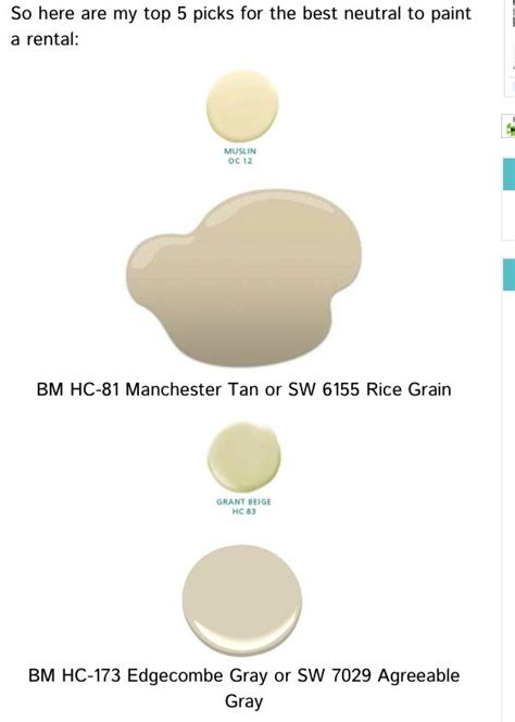 best neutral paints colors for your rental ben paint colors muslin oc12 manchester