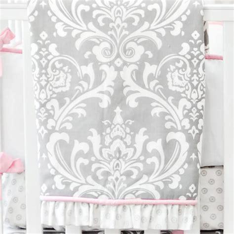 Pink And Gray Baby Bedding Pink And Grey Nursery Bedding Stella Gray Crib Bedding