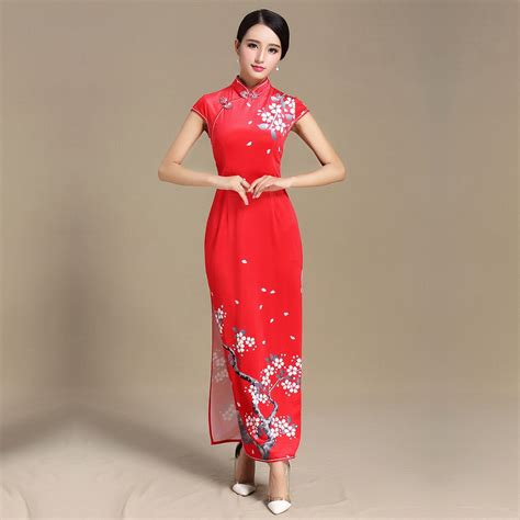 Blossom Flower Dress pretty blossom flowers print qipao cheongsam dress