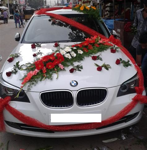 Decorate Wedding Car With Pink Flowers by Wedding Car Decoration In Gurgaon Flowers Delivery Gurgaon