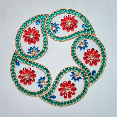 rangoli craft for kundan rangoli designs craftsndesigns