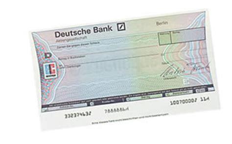 deutsche bank cheque scheck erst ab 18 junge seiten