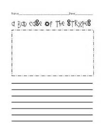 Bad case of stripes writing prompt 4 printables from owl inspire