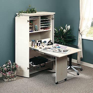 sauder sewing armoire sauder 158097 harbor view sewing craft armoire the furniture co