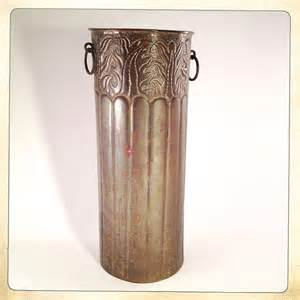 Tall Wall Decor Vintage Umbrella Stand Brass On Copper 40s