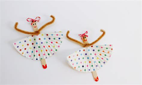 how to make craft for easy craft how to make popsicle stick ballerinas