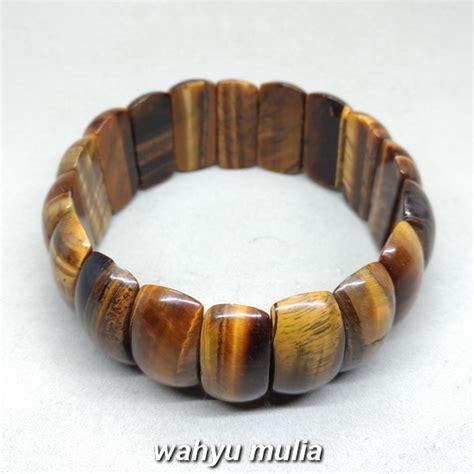 Gelang Batu Tiger Eye gelang batu akik tiger eye biduri sepah pipih asli kode