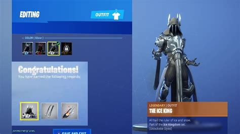 unlocking stage  silver ice king  fortnite battle