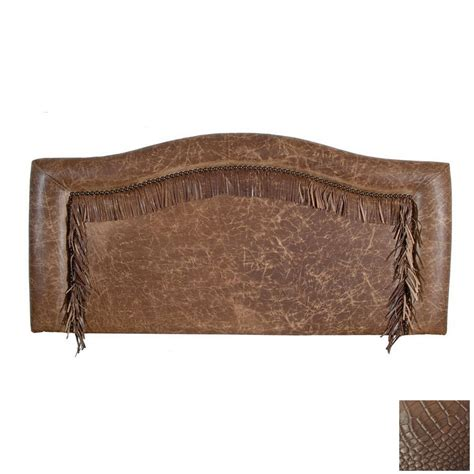 california king leather headboard shop fireside lodge furniture rustic gator california king