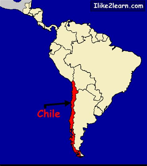 south america map chile chile map