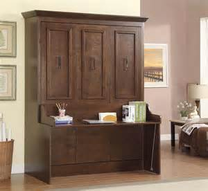 Queen Murphy Bed And Desk Natanielle Queen Murphy Bed With Desk Walnut Mdh