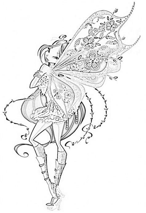 flora enchantix coloring pages by ilovepanadas on deviantart