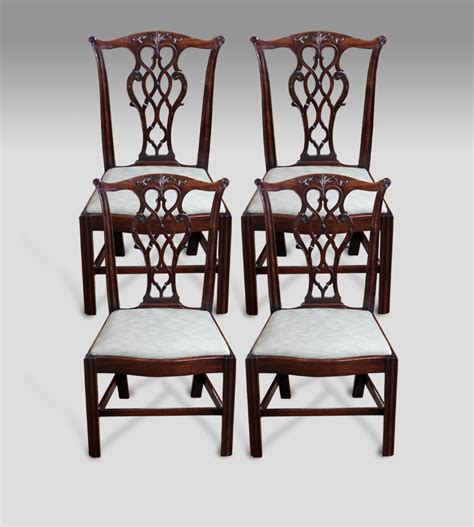 set of 4 antique dining chairs 4 chippendale dining