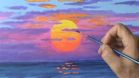 acrylic paint sun how to paint a sun at sunset using acrylic paint on