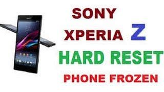 reset password xperia z2 sony xperia z z1 z2 z3 z5 hard reset unlock password