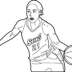 kevin durant and russell westbrook coloring page coloring
