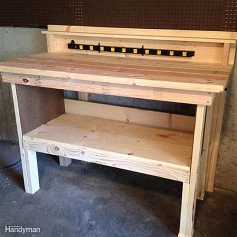 plans for wooden work bench workbench plans workbenches the family handyman
