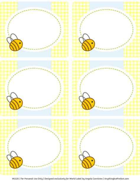 card bee template baby shower labels in a bumble bee boys theme worldlabel