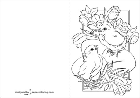 coloring pages for easter cards easter card with coloring page free printable