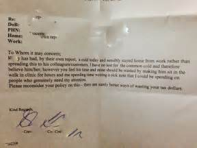 Seriously awesome doctor shuts down boss who requires a note for sick