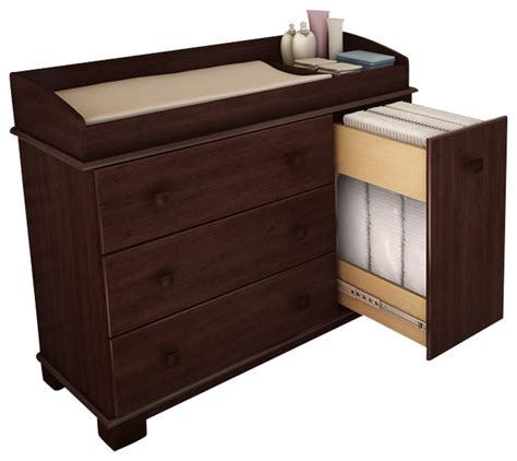 Cherry Dresser Changing Table South Shore Baby Changing Table In Royal Cherry Finish Transitional Changing Tables