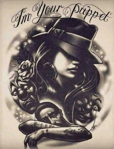 chicano hairstyle chicana gangsta art pictures to pin on pinterest tattooskid