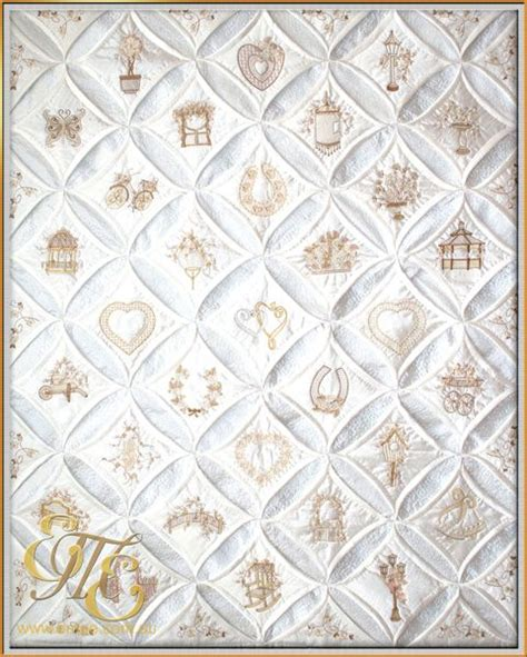 Cathedral Quilts by Diamonds Pearls Cathedral Window Quilt Quilt