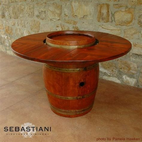 wine barrel tables 19 best images about wine country on barrel table wine barrel table and cook books