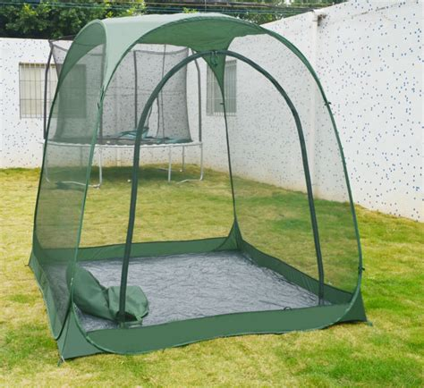 screen house with floor steel frame outdoor six edge leisure tents garden pop up