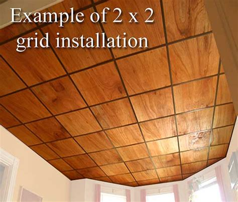 Wood Drop Ceiling Tiles by Oak Veneer Ceiling Tiles At Wishihadthat