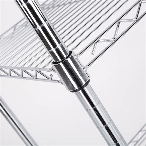 5 Shelf Wire Rack by Bn Adjustable 5 Tier Wire Shelving Rack Heavy Duty Chrome