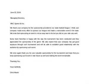 Thank You Letter Team For Support are fond of supporting sports team this sponsor thank you letter