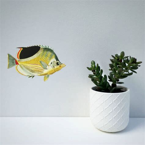 wall stickers fish tropical fish wall sticker by chameleon wall