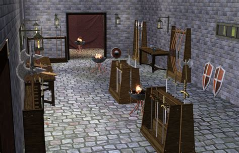 Buy Curtains Mod The Sims Medieval Armoury Part 2 Ye Olde Kingdom