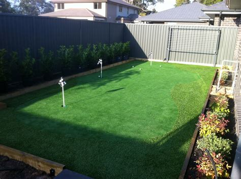 golf putting greens for backyard popular backyard golf green for aussie golfers gogo papa