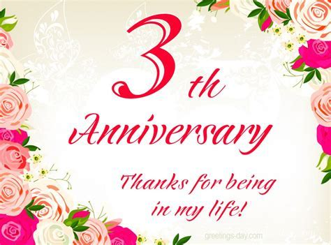 3th Anniversary   Free Ecards , Pics & Wishes.