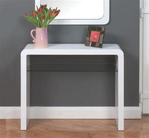 Cheap Console Tables atlantis clarus high gloss white console table console