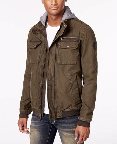 Levis Jacket 1 levi s 174 s twill hooded bomber jacket coats jackets