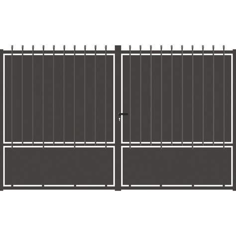 portail aluminium battant 4289 portail battant aluminium crete festonne gris anthracite