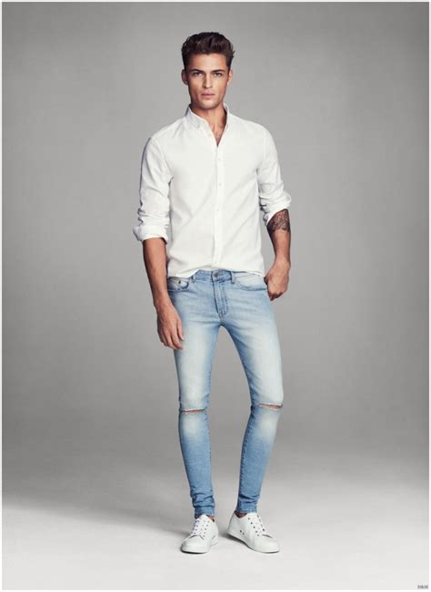 jeans style 2015 men harvey haydon models super skinny denim jeans for h m men