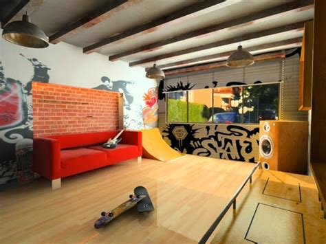 skateboard accessories for bedrooms skate home skater room idea for a play area for