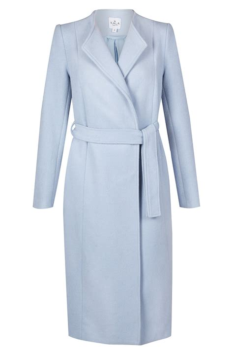 Coat Adele From Kala Fashion Light Blue Wool Coat Now