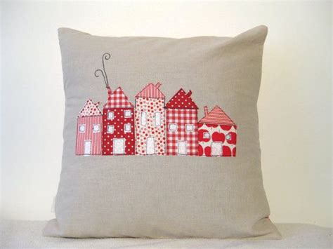 Cushion Design Ideas by Cushion Cover Houses In A Row European Free Motion Applique 16 Quot 40cm Made In Belgium