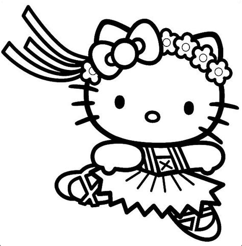 hello kitty dance coloring pages ballerina coloring