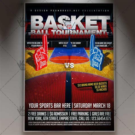 basketball tournament premium flyer psd template psdmarket