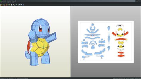 How To Make An Origami Squirtle - squirtle papercraft unfold by antyyy deviantart