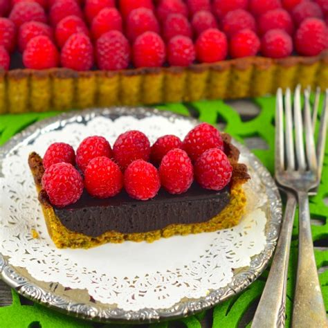 chocolate raspberry tart vegan raspberry chocolate tart