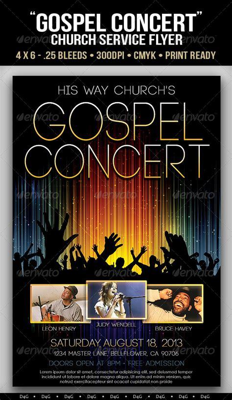 gospel concert lights flyer template by d4g graphics on