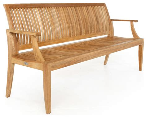 laguna bench laguna 6 teak bench modern garden benches orange