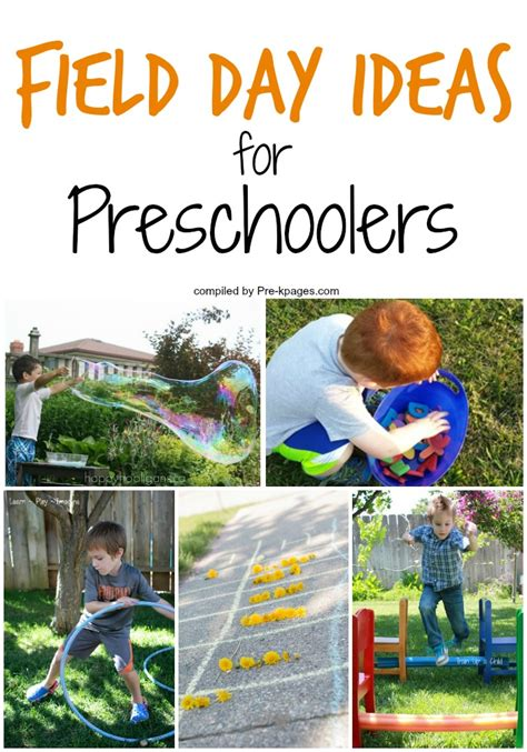 day ideas for field day ideas for preschoolers